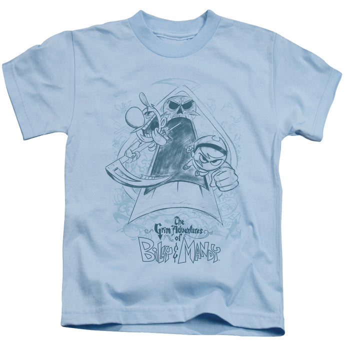 Grim Adventures Of Billy & Mandy - Sketched Short Sleeve Juvenile 18/1 Tee - Special Holiday Gift