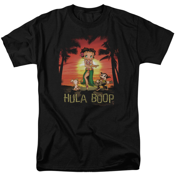 Betty Boop - Hulaboop Short Sleeve Adult 18/1 Tee - Special Holiday Gift