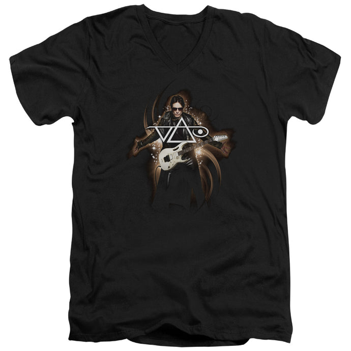 Steve Vai - Vai Guitar Short Sleeve Adult V Neck Tee - Special Holiday Gift