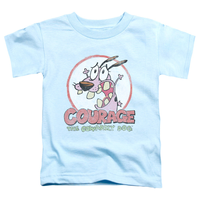 Courage The Cowardly Dog - Vintage Courage Short Sleeve Toddler Tee - Special Holiday Gift