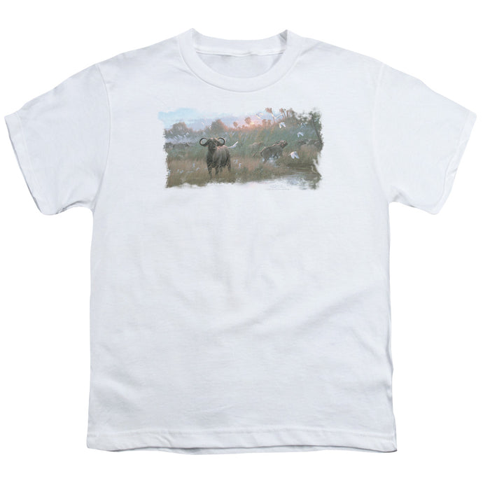 Wildlife - Cape Buffalo Short Sleeve Youth 18/1 Tee - Special Holiday Gift