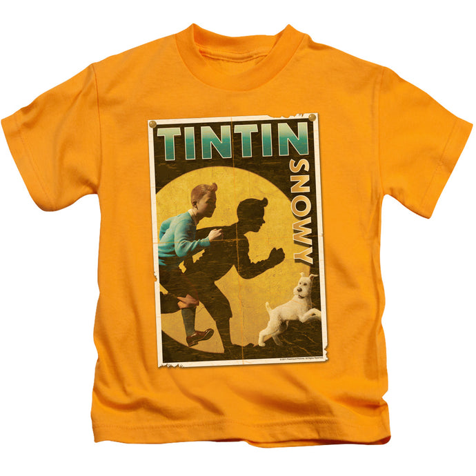 Tintin - Tintin & Snowy Flyer Short Sleeve Juvenile 18/1 Tee - Special Holiday Gift