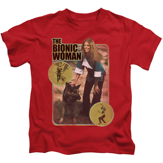 Bionic Woman - Jamie And Max Short Sleeve Juvenile 18/1 Tee - Special Holiday Gift