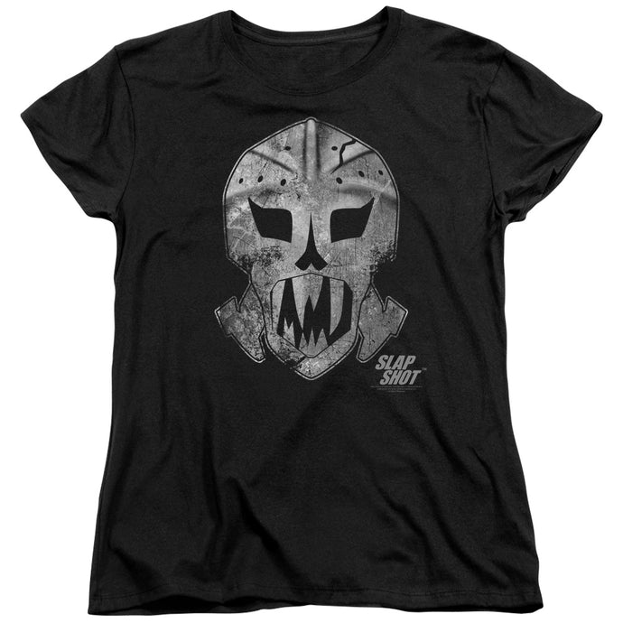 Slap Shot - Goalie Mask Short Sleeve Women's Tee - Special Holiday Gift