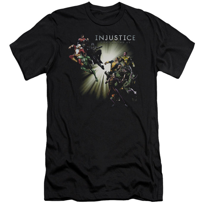 Injustice Gods Among Us - Good Vs Evils Short Sleeve Adult 30/1 Tee - Special Holiday Gift