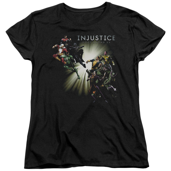 Injustice Gods Among Us - Good Vs Evil Short Sleeve Women's Tee - Special Holiday Gift