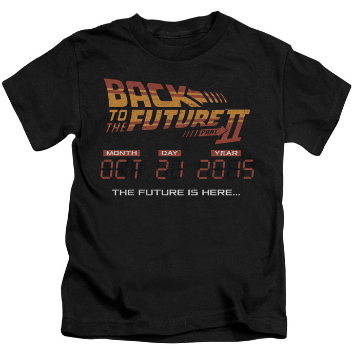 Back To The Future Ii - Future Is Here Short Sleeve Juvenile 18/1 Tee - Special Holiday Gift