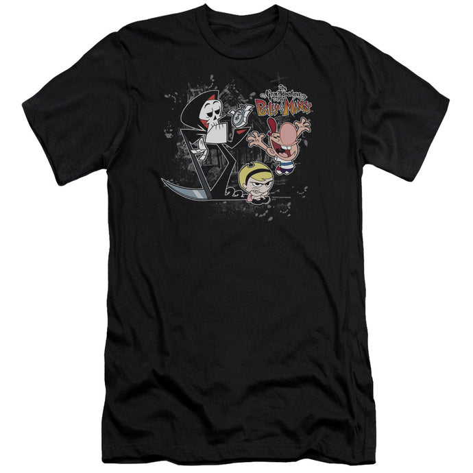 Billy & Mandy - Splatter Cast Short Sleeve Adult 30/1 Tee - Special Holiday Gift