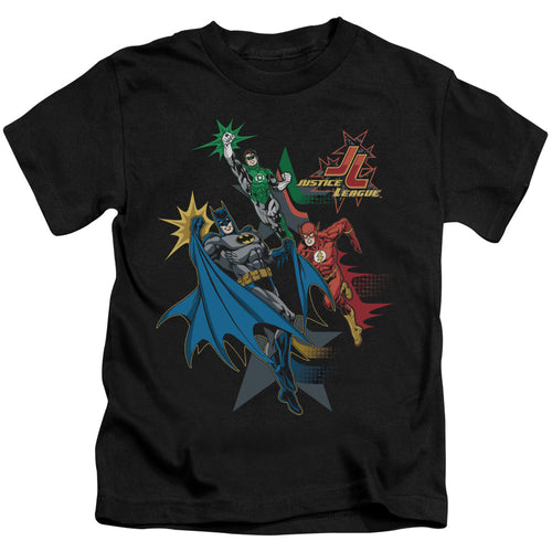 Jla - Action Stars Short Sleeve Juvenile 18/1 Tee - Special Holiday Gift