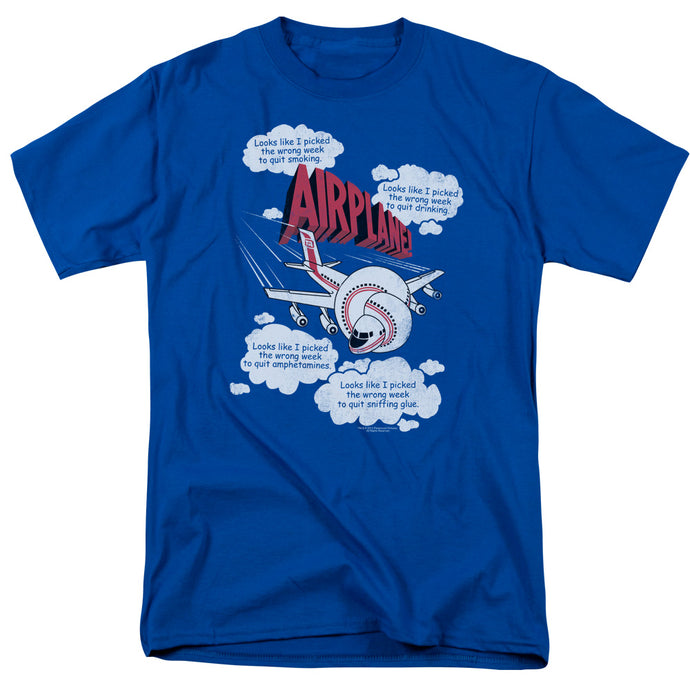 Airplane - Picked The Wrong Day Short Sleeve Adult 18/1 Tee - Special Holiday Gift