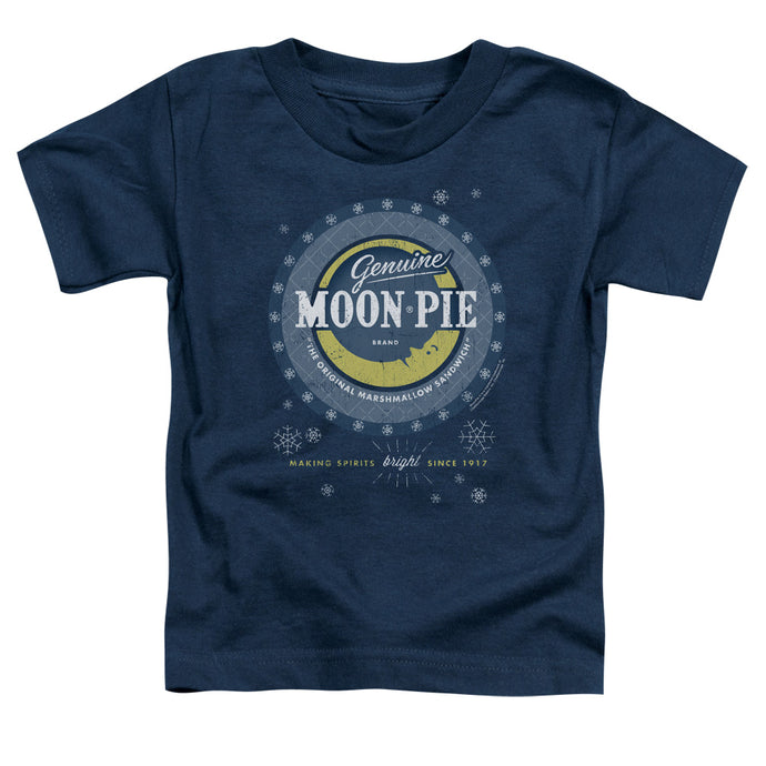 Moon Pie - Snowing Moon Pies Short Sleeve Toddler Tee - Special Holiday Gift