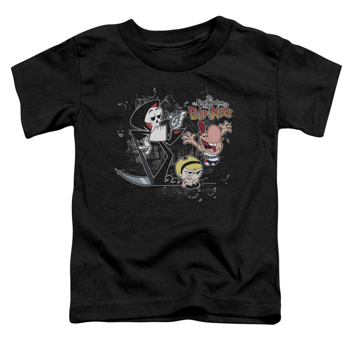 Billy & Mandy - Splatter Cast Short Sleeve Toddler Tee - Special Holiday Gift