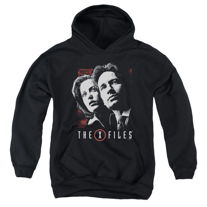 X Files - Mulder & Scully Youth Pull Over Hoodie - Special Holiday Gift