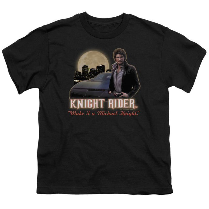 Knight Rider - Full Moon Short Sleeve Youth 18/1 Tee - Special Holiday Gift