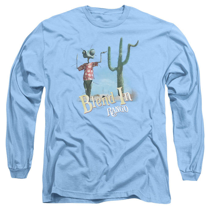 Rango - Blend In Long Sleeve Adult 18/1 Tee - Special Holiday Gift