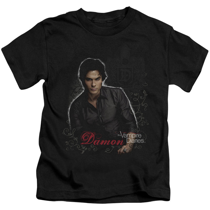 Vampire Diaries - Damon Short Sleeve Juvenile 18/1 Tee - Special Holiday Gift