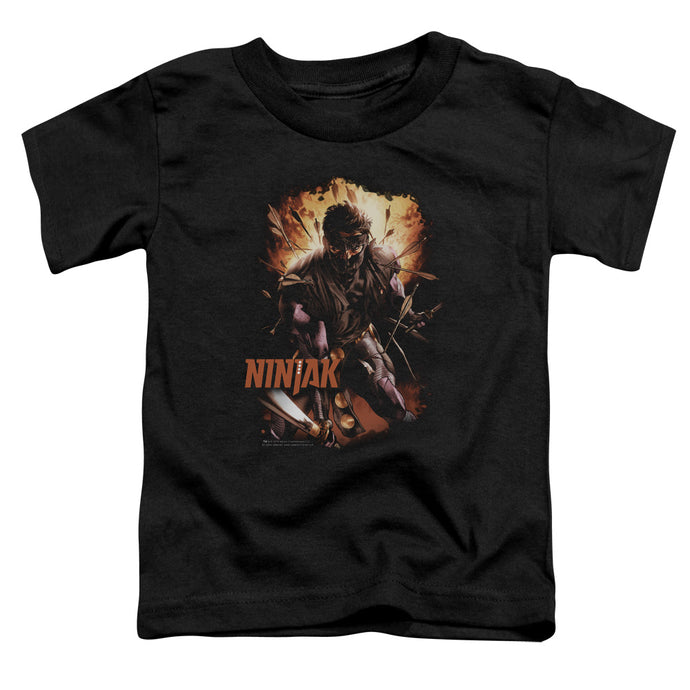 Ninjak - Fiery Ninjak Short Sleeve Toddler Tee - Special Holiday Gift