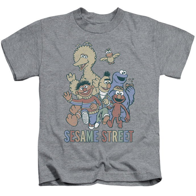 Sesame Street - Colorful Group Short Sleeve Juvenile 18/1 Tee - Special Holiday Gift
