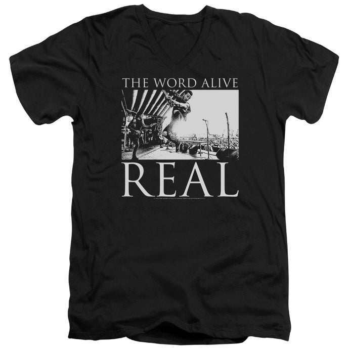 The Word Alive - Live Shot Short Sleeve Adult V Neck Tee - Special Holiday Gift