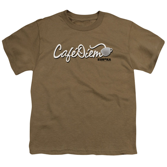 Eureka - Cafe Diem Short Sleeve Youth 18/1 Tee - Special Holiday Gift