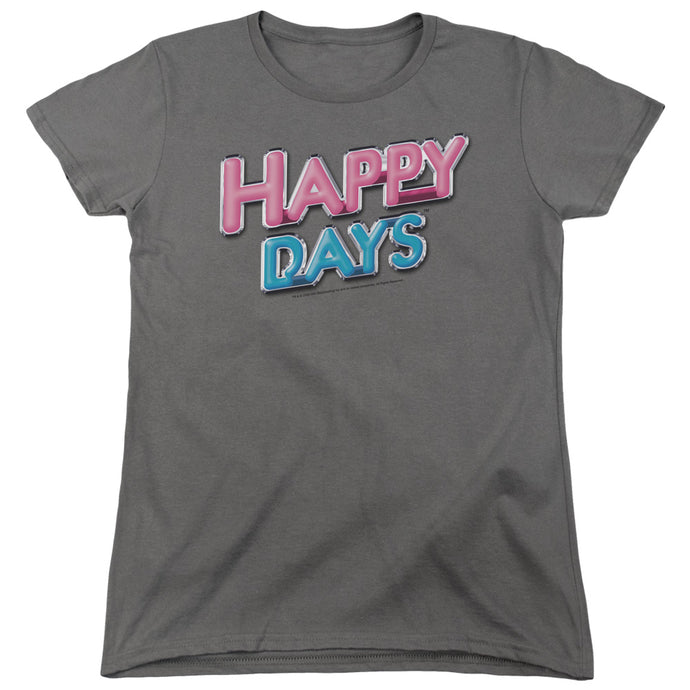 Happy Days - Happy Days Logo Short Sleeve Women's Tee - Special Holiday Gift