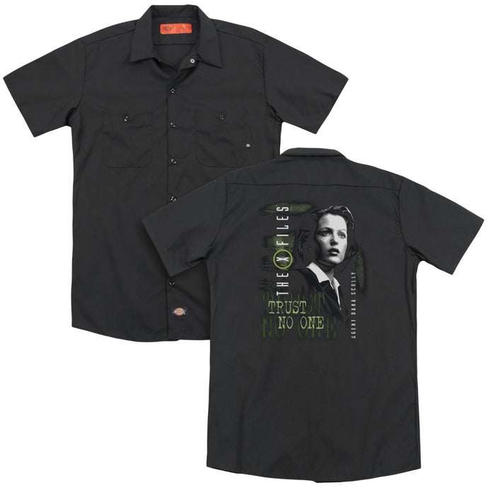 X Files - Scully(Back Print) Adult Work Shirt - Special Holiday Gift