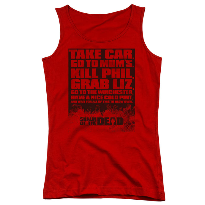 Shaun Of The Dead - List Juniors Tank Top - Special Holiday Gift