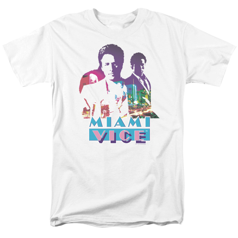 Miami Vice - Crockett And Tubbs Short Sleeve Adult 18/1 Tee - Special Holiday Gift