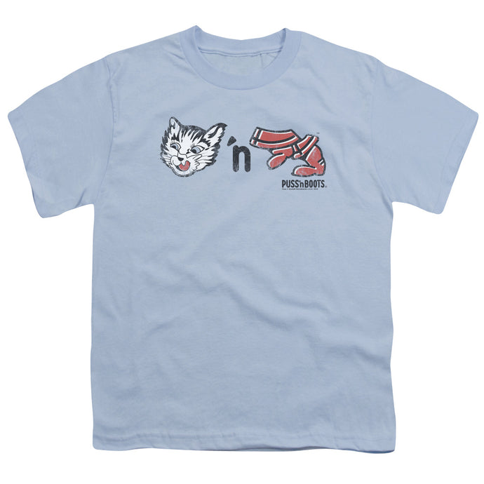 Puss N Boots - Rebus Logo Short Sleeve Youth 18/1 Tee - Special Holiday Gift
