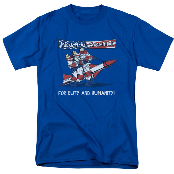 Three Stooges - Mission Accomplished Short Sleeve Adult 18/1 Tee - Special Holiday Gift