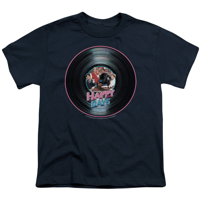 Happy Days - On The Record Short Sleeve Youth 18/1 Tee - Special Holiday Gift
