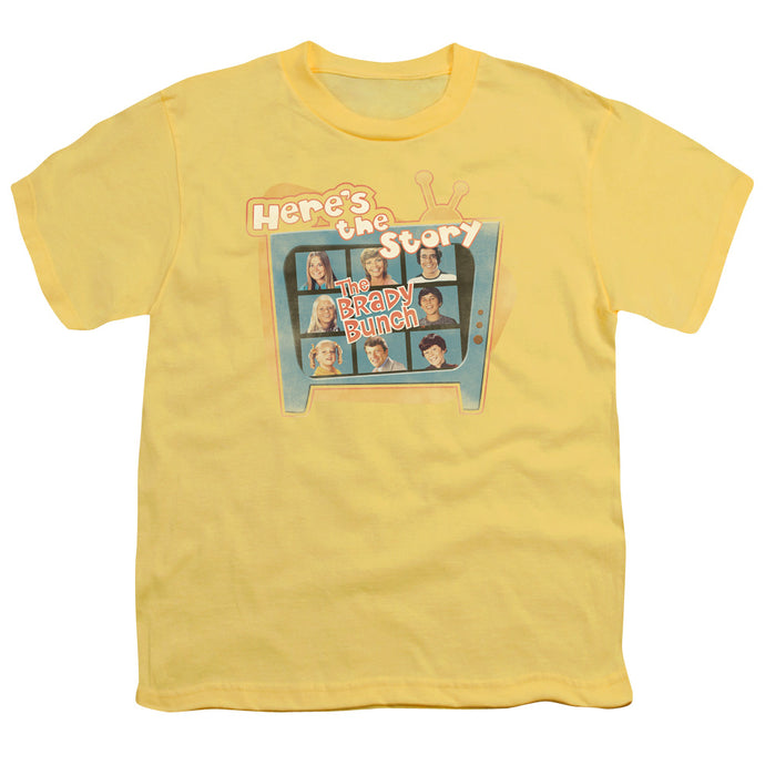 Brady Bunch - Here's The Story Short Sleeve Youth 18/1 Tee - Special Holiday Gift