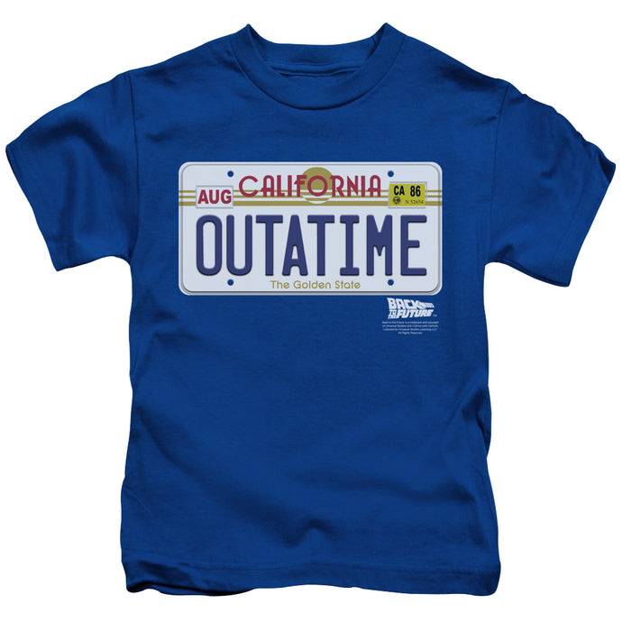 Back To The Future - Outatime Plate Short Sleeve Juvenile 18/1 Tee - Special Holiday Gift