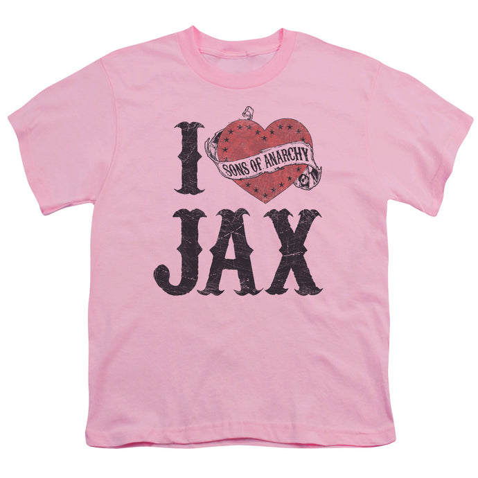 Sons Of Anarchy - I Heart Jax Short Sleeve Youth 18/1 Tee - Special Holiday Gift