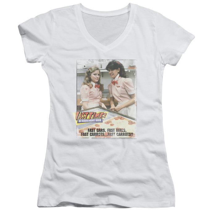 Fast Times Ridgemont High - Fast Carrots Junior V Neck Tee - Special Holiday Gift