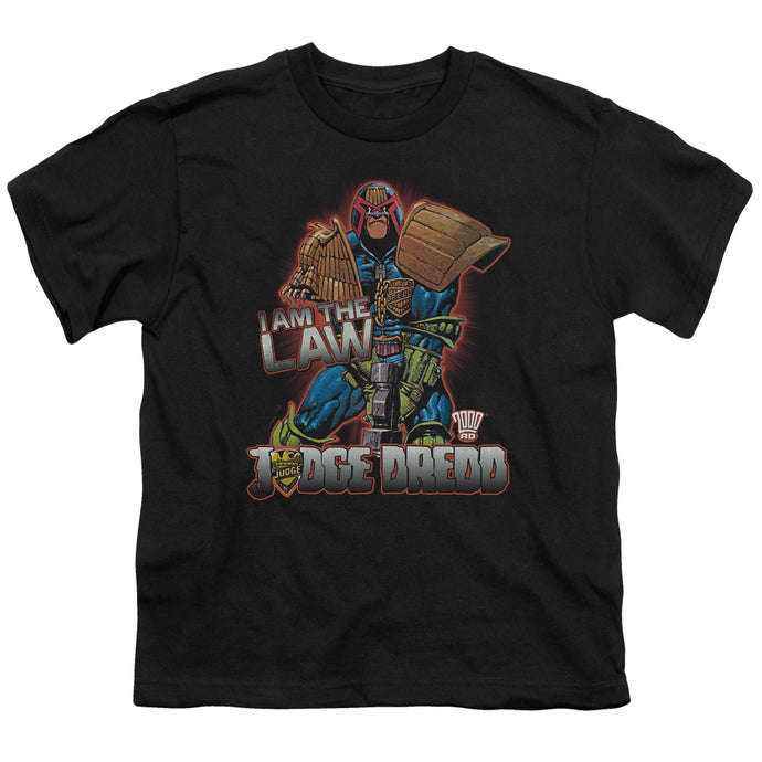 Judge Dredd - Law Short Sleeve Youth 18/1 Tee - Special Holiday Gift