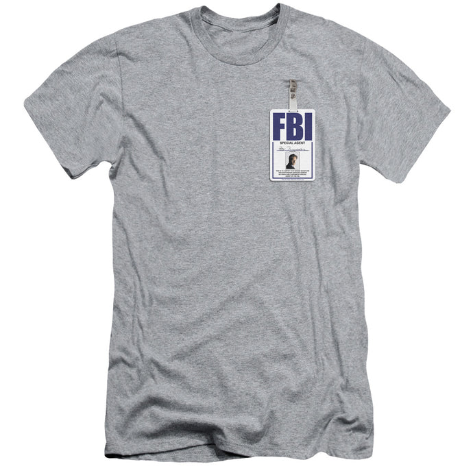 X Files - Mulder Badge Short Sleeve Adult 30/1 Tee - Special Holiday Gift