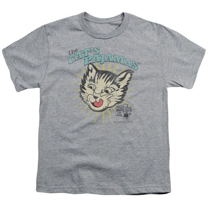 Puss N Boots - Cats Pajamas Short Sleeve Youth 18/1 Tee - Special Holiday Gift