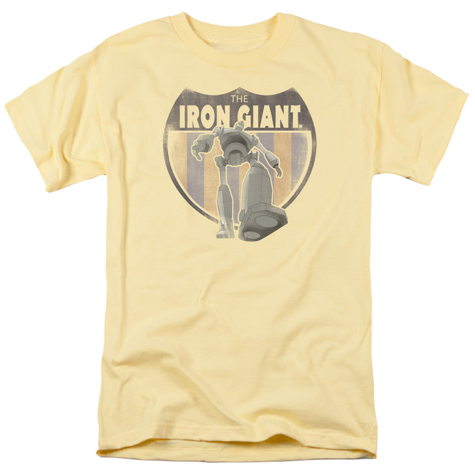 Iron Giant - Patch Short Sleeve Adult 18/1 Tee - Special Holiday Gift