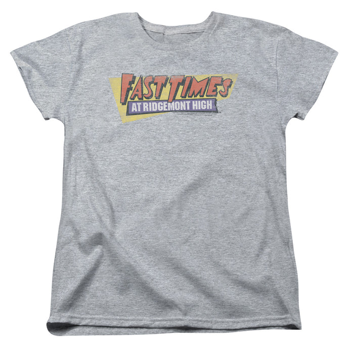 Fast Times Ridgemont High - Distressed Logo Short Sleeve Women's Tee - Special Holiday Gift