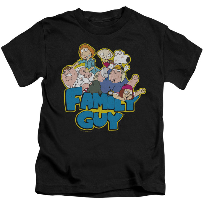 Family Guy - Family Fight Short Sleeve Juvenile 18/1 Tee - Special Holiday Gift