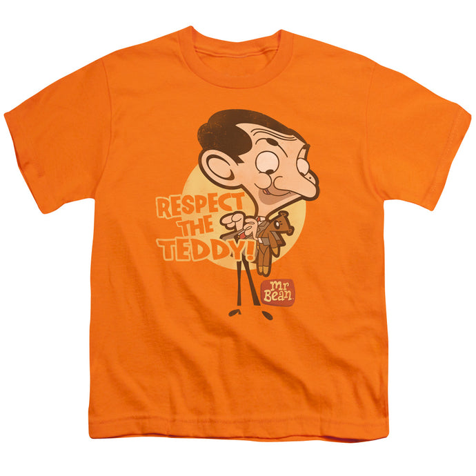 Mr Bean - Respect The Teddy Short Sleeve Youth 18/1 Tee - Special Holiday Gift