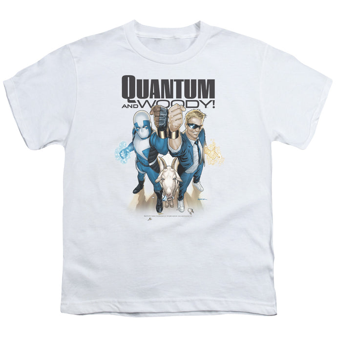 Quantum And Woody - Quantum And Woody Short Sleeve Youth 18/1 Tee - Special Holiday Gift