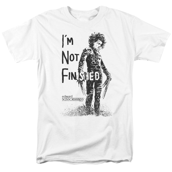 Edward Scissorhands - Not Finished Short Sleeve Adult 18/1 Tee - Special Holiday Gift