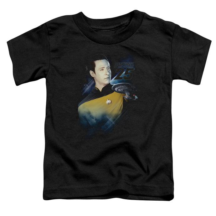 Star Trek - Data 25 Th Short Sleeve Toddler Tee - Special Holiday Gift
