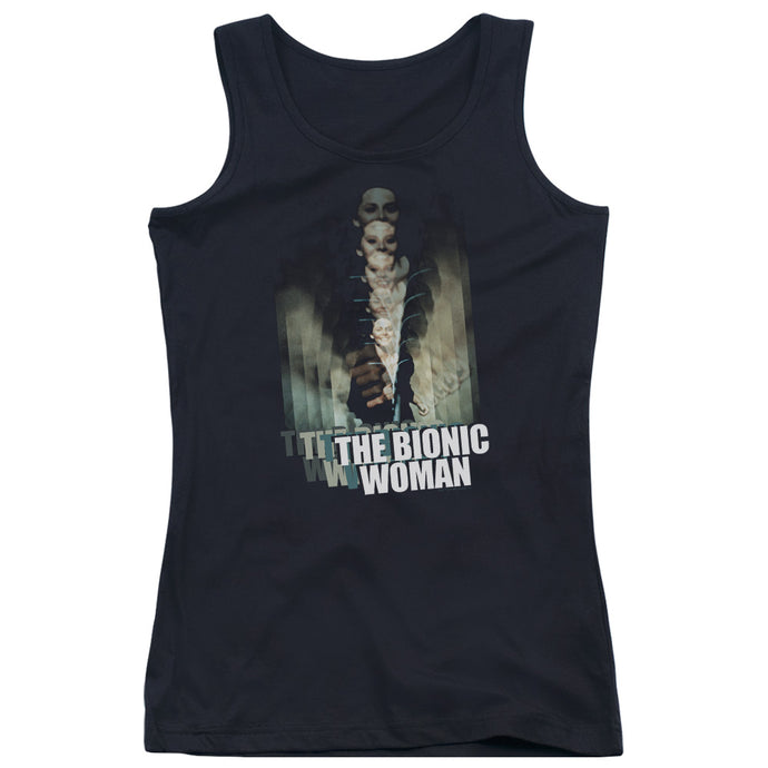Bionic Woman - Motion Blur Juniors Tank Top - Special Holiday Gift