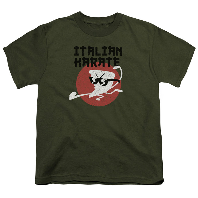 Uncle Grandpa -  Italian Karate Short Sleeve Youth 18/1 Tee - Special Holiday Gift