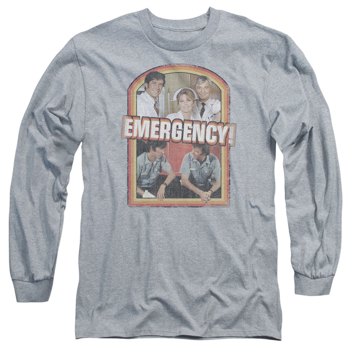 Emergency - Retro Cast Long Sleeve Adult 18/1 Tee - Special Holiday Gift