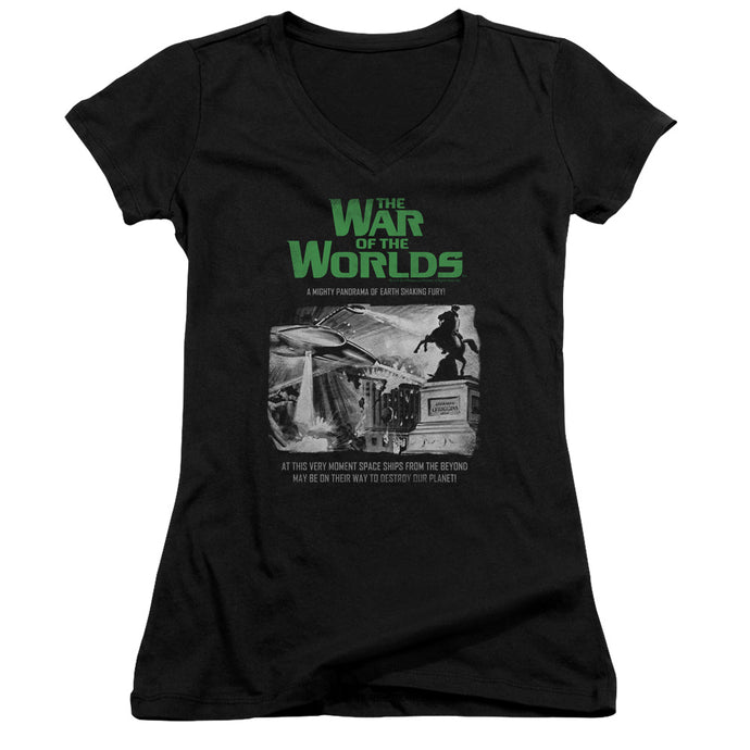 War Of The Worlds - Attack People Poster Junior V Neck Tee - Special Holiday Gift