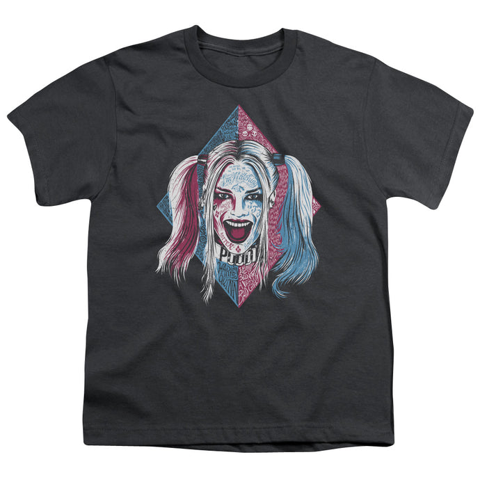 Suicide Squad - Puddin Portrait Short Sleeve Youth 18/1 Tee - Special Holiday Gift